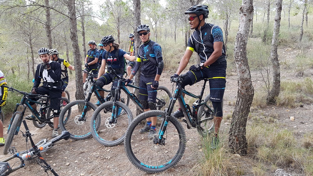 Rad fahren in Alicante Gruppenausfahrt