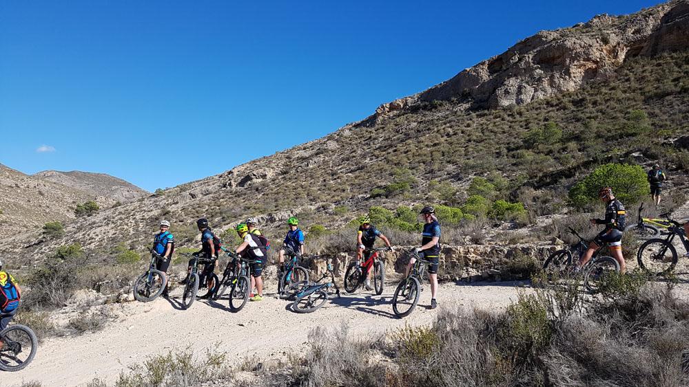 Fahrradgruppe in Alicante